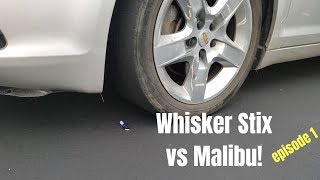 Whisker Stix VS Car! - Ran Over Four times!