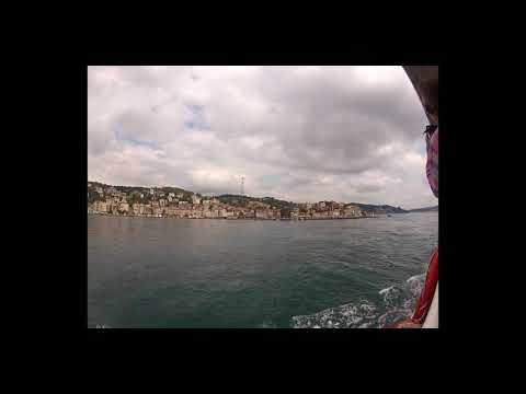 Bosphorus ferry trip - Golden Horn to Black Sea during Gezi park protests