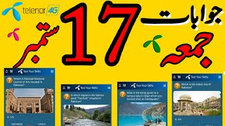 17 September 2021 Questions and Answers | My Telenor Today Questions | Telenor Questions Today Quiz screenshot 1