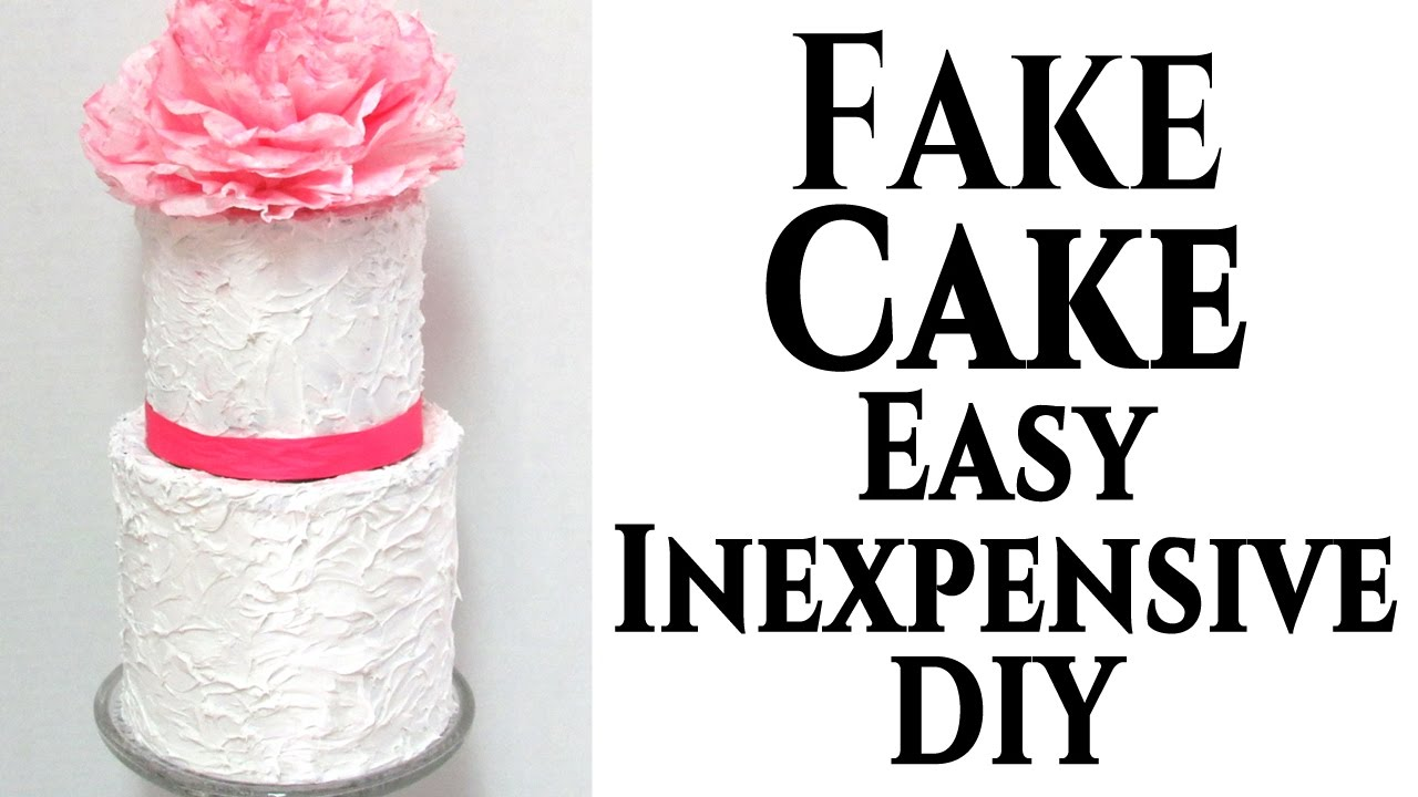 DIY | Fake Wedding Cake Tutorial - YouTube