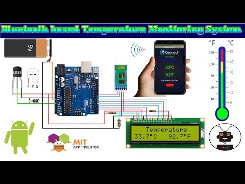 Temperature Monitoring System Using Arduino, LM35 And Hc 05 Bluetooth