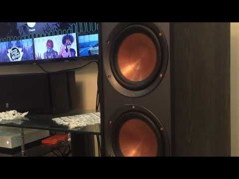 klipsch reference r620f bass test/review
