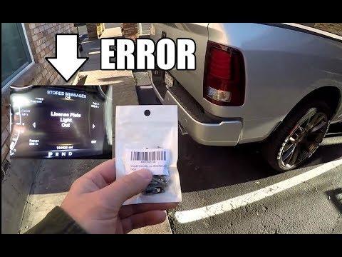 Dodge Ram Trucks License Plate Led Bulb Attempt 3 New