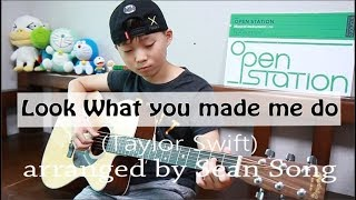 Look What You Made Me Do - Taylor Swift(fingerstyle guitar arranged & cover by 10-year-old kid Sean)