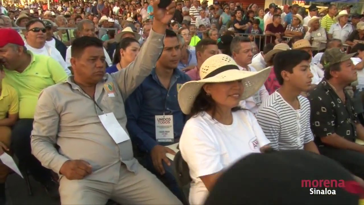Firma del acuerdo politico de unidad de AMLO en Sinaloa