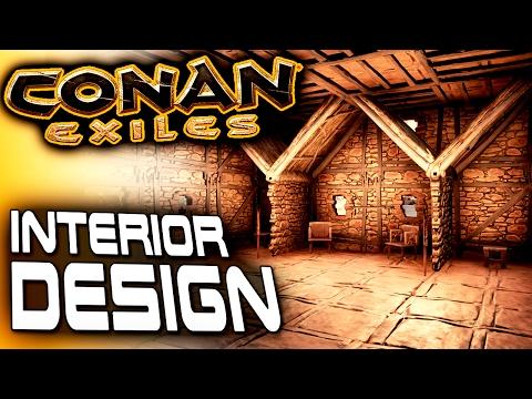 Conan Exiles Base Building - Interior Design & Durungu's Story - Conan Exiles Gameplay - River House