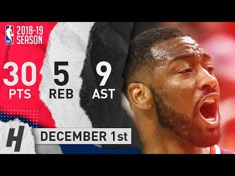 John Wall Full Highlights Wizards vs Nets 2018.12.01 - 30 Pts, 9 Ast, 5 Rebounds!