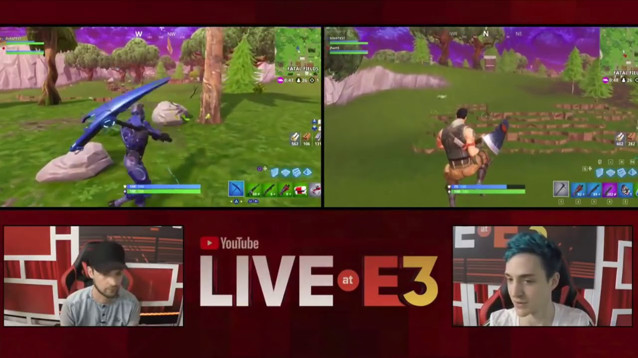 ninja forced to play duo with ali a after making fun of him before at e3 fortnite battle royale - fortnite ali a duo
