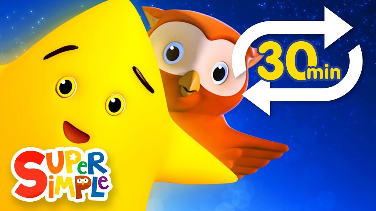 Twinkle Twinkle Little Star Extended Mix 30 Mins Nursery Rhyme Lullaby Super Simple Songs Youtube
