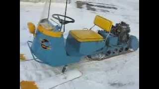 1963 Antique Blue Goose Snowmobile Overview