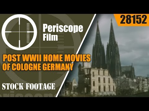 POST WWII HOME MOVIES OF COLOGNE GERMANY   COLOGNE CATHEDRAL  REBUILDING OF GERMANY 28152