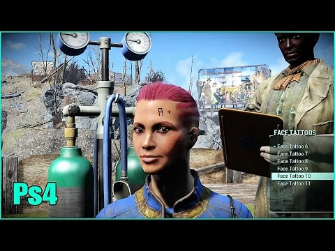 Gunner Blood Type Tattoo Fallout 4 Mods Ps4 Face Tattoos