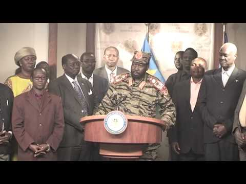 PRESIDENT SALVA KIIR SPEECH ON 16/12/2013 ATEMPTED COUP-SOUTH SUDAN