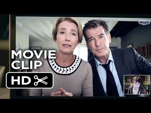 The Love Punch Movie CLIP - Skype (2014) - Pierce Brosnan, Emma Thompson Comedy HD