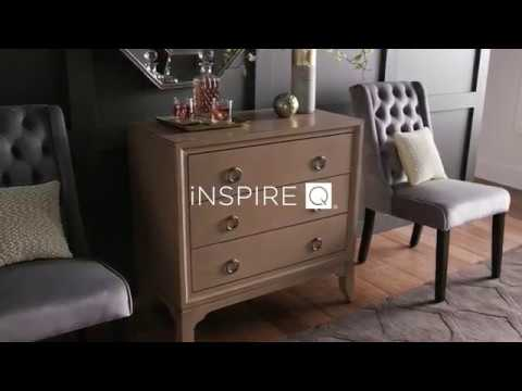 Antique Tiger's Eye Finish Chest with 3 Ring Pull Drawers by iNSPIRE Q Classic