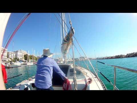 sailing single handed patras marina
