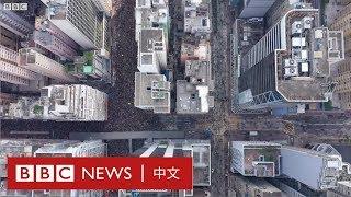 逃犯條例:航拍下的反《逃犯條例》遊行- BBC News 中文  一國兩制 反送中 