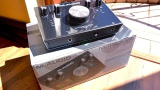 Unboxing the M-AUDIO M-Track 2X2 audio interface!
