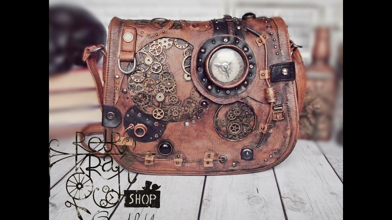 Altered bag - steampunk purse