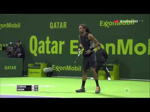 Novak Djokovic vs Dustin Brown FULL MATCH HD DOHA 2016 PART 1