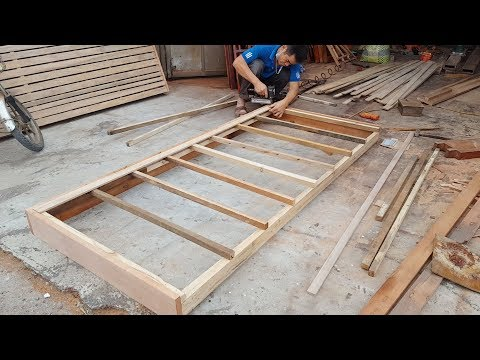 Woodwork -  DIY Solid Wood Bed | NATHAN BUILDS