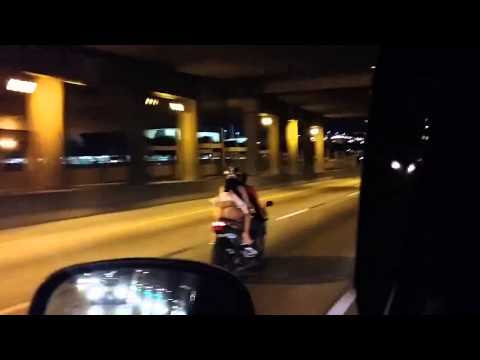 Promo Brady - Girl shows off thong on motorcycle ride
