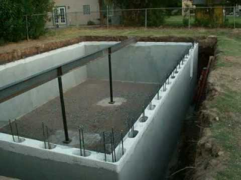 Green rhino building systems basement project youtube Basement swimming pool construction