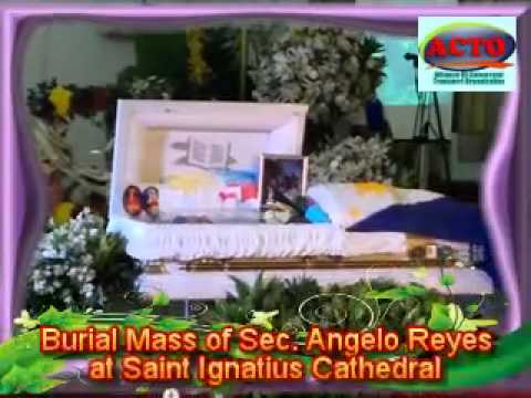 ACTO AT THE BURIAL MASS OF SEC. ANGELO REYES AT SAINT IGNATIUS CATHEDRAL