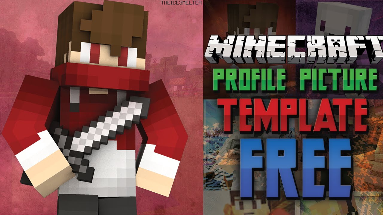 updated free minecraft youtube profile picture template free download youtube