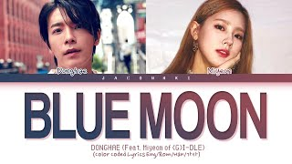 Download Donghae BLUE MOON (Feat. Miyeon of (G)I-DLE) Lyrics (Color Coded Lyrics)