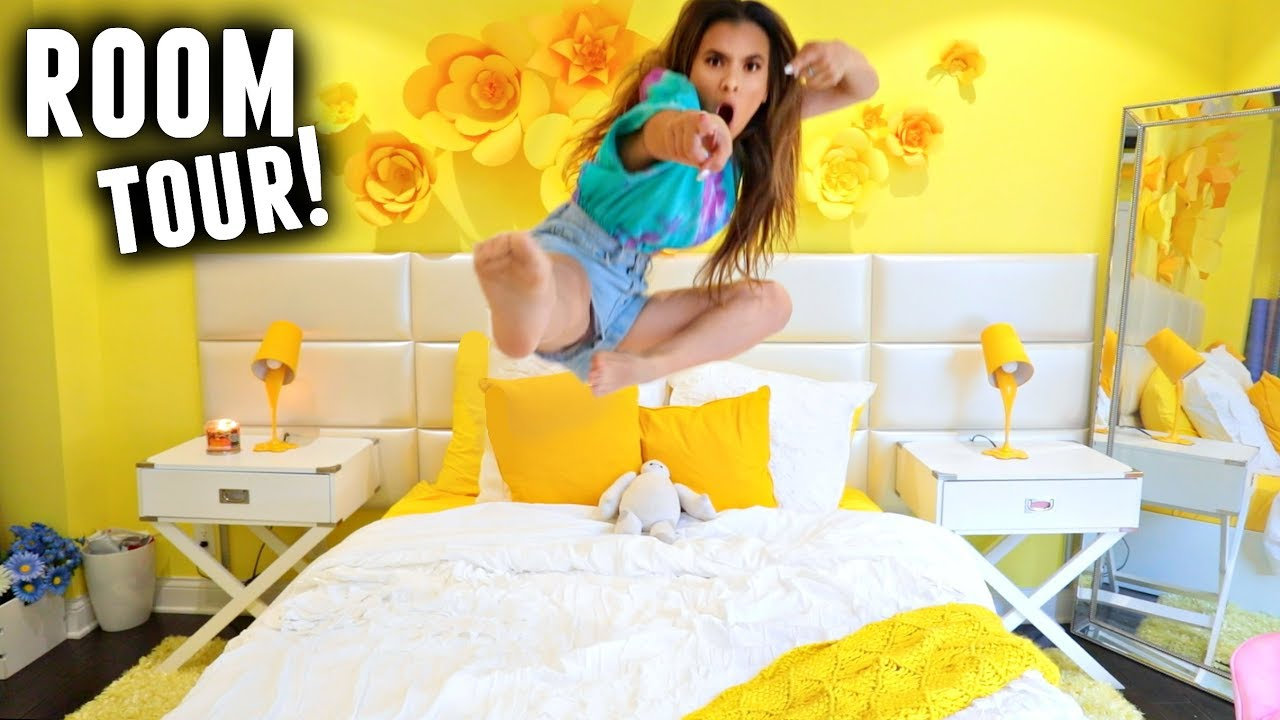ROOM TOUR 2017! (Happy Bright Yellow Room Makeover with Mr. Kate ...