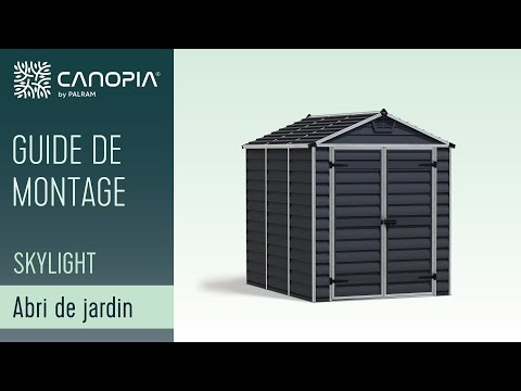 plus de photos 6ccb0 9a94a Palram SkyLight™ Shed / Abri de jardin - How to Assemble ...