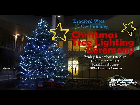 Bradford West Gwillimbury Tree Lighting Ceremony 2017 #TreeLighting