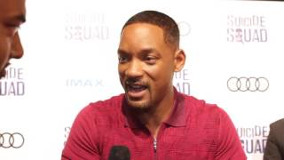 Will Smith and Margot Robbie at Suicide Squad's BelleReveTO event