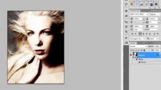 How to get Halftone Dots and Linear Light effect in Adobe Photoshop CS5 Tutorial