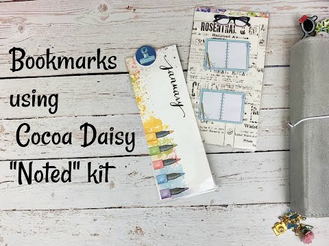 "#CocoaDaisy #Bookmarks Using Cocoa Daisy ""Noted"" Kit"