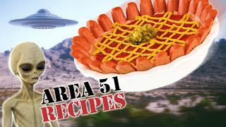 10 Area 51 Recipes  Extraterrestial Hot Dog Gross Food  Well Don&#39t
