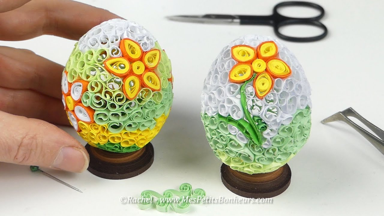 diy oeuf de p ques 3d en quilling tuto complet youtube. Black Bedroom Furniture Sets. Home Design Ideas