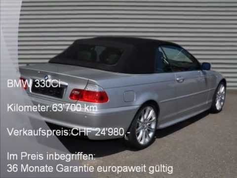bmw 330ci b 4900 autohaus schiess ag occasion youtube. Black Bedroom Furniture Sets. Home Design Ideas