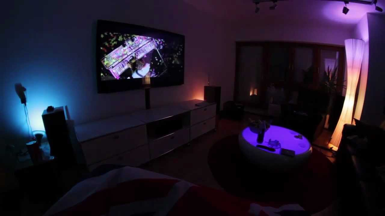 philips hue with 3 bulbs and 4 livingcolors youtube. Black Bedroom Furniture Sets. Home Design Ideas