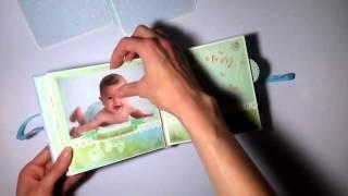 Детский альбом ручной работы для мальчика. Скрапбукинг // Baby album handmade for boy. Scrapbook