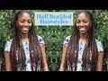 Half Feed-In & Fulani-Inspired Braids w/ Box Braids