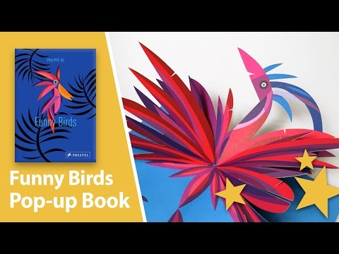 Funny Birds Pop-up Book by Philippe UG