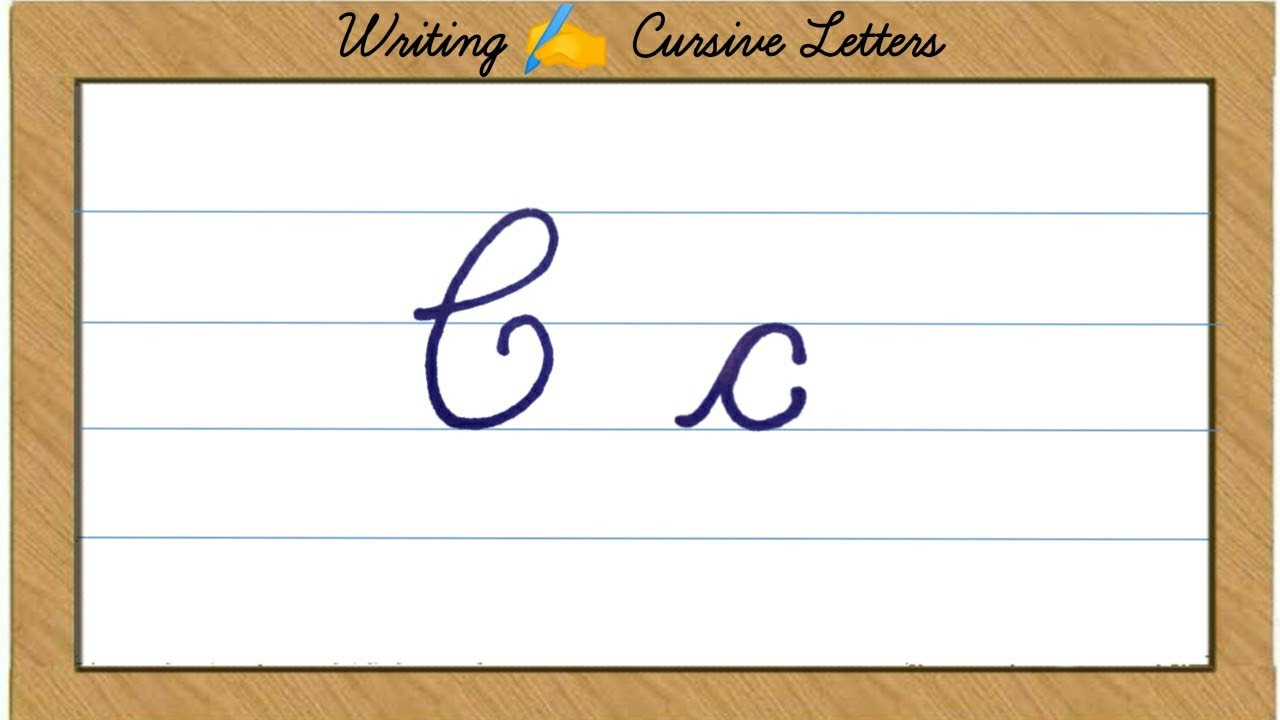 Writing Cursive - Capital Letter C and Small Letter c