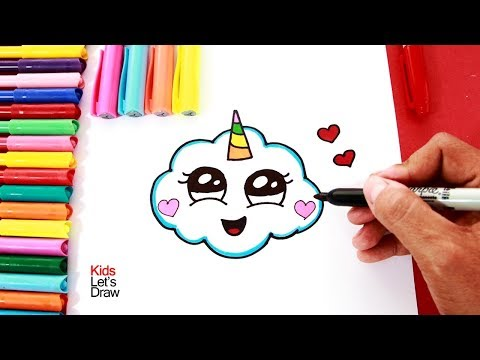 Cómo Dibujar Una Nube Unicornio How To Draw A Cute Unicorn Cloud 2