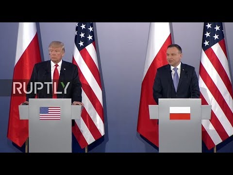 LIVE: Donald Trump and Poland's President Duda deliver joint statement in Warsaw