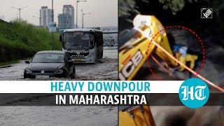 Maharashtra: Heavy rainfall lashes Mumbai, Pune; causes waterlogging, traffic
