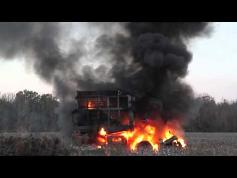 Cotton Picker Fire