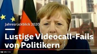 Die Videokonferenz-Pannen der Politiker