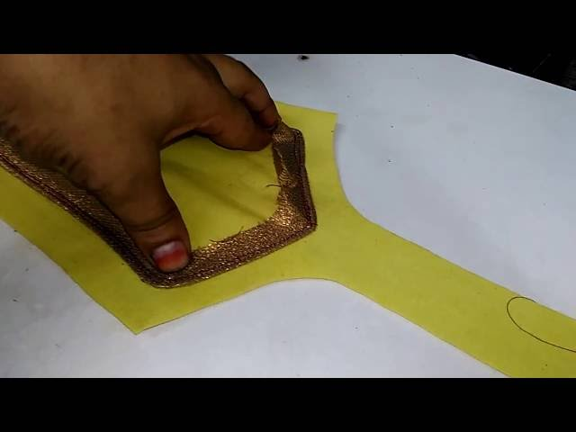 Piping Neck Neck Design Underground Piping Neck Design Cutting And Stitching Youtube